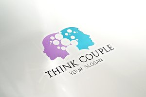 Man  Woman Couple Logo