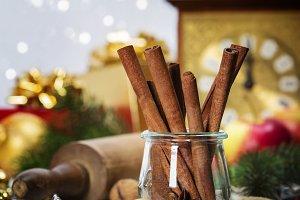 Christmas Baking background. Ingredi