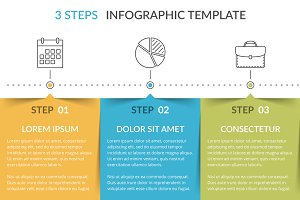 Infographic Template with 3 Elements