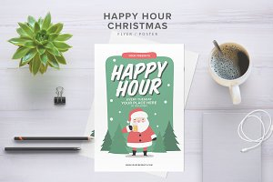 Happy Hour Christmas Flyer