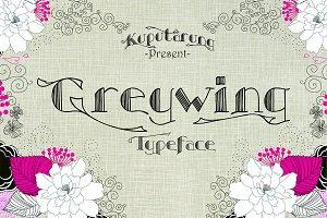 Greywing font