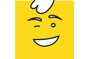 Smile icon template design. Smile