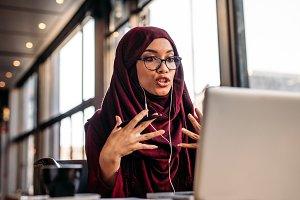 Businesswoman in hijab