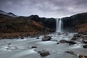 Gufufoss, beautiful waterfall