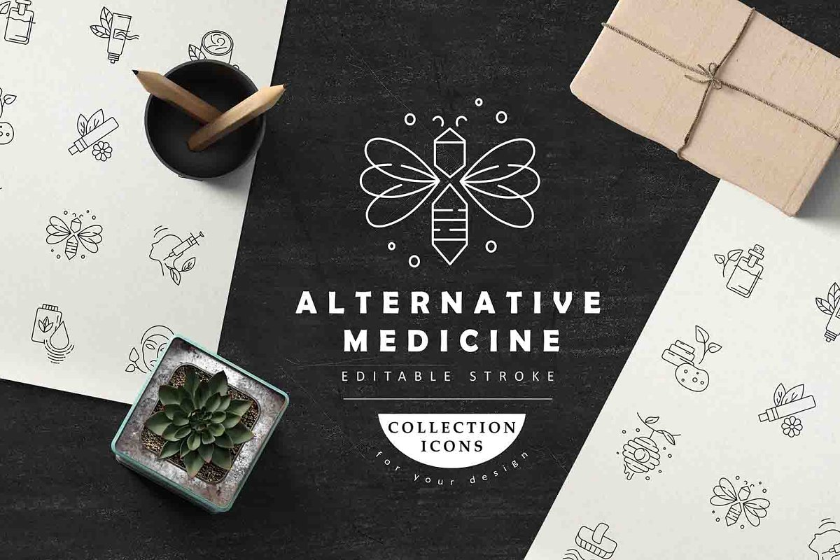 Alternative medicine icons ~ Icons ~ Creative Market