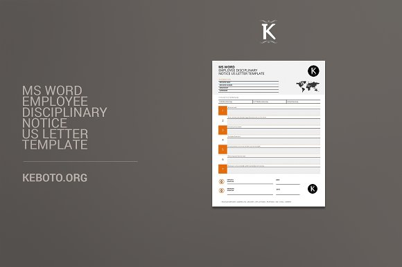 ms word employee disciplinary notice stationery templates