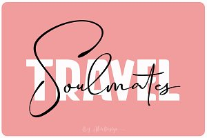 Travel Soulmates // Font Duo
