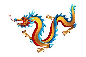 Illustration of Chinese dragon.