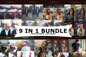 9 IN 1 Photoshop Actions Bundle