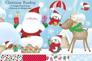Christmas Clip Art & Paper Set