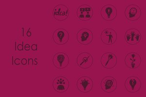 16 IDEA simple icons