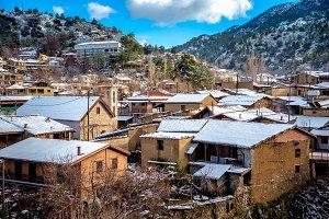 Kakopetria village in winter