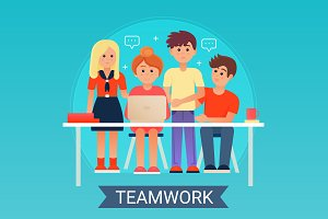 Successful Business Teamwork concept