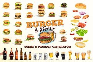 Burger&Beer Mock-up / Scene Creator