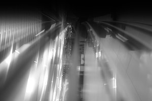 Vertical black and white motion blur
