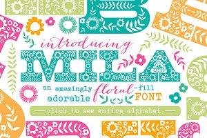 Mila Floral Fill Font