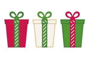 Christmas Gift Box Vector Set