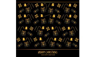 Christmas background gold color with