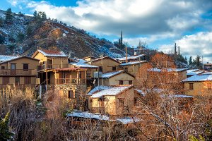 Village of Kakopetria in winter