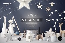 SCANDI - Christmas Scene Creator by  in Product Mockups