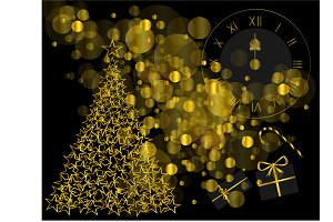 New Year backgorund gold color with