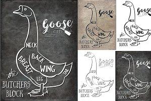 Goose Butcher Cuts Set 1