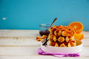 Traditional vanilla waffles