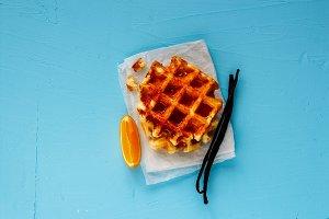Traditional vanilla waffles