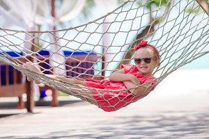 Adorable little girl on tropical vac