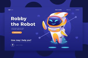 Robot Manager - Banner & Landing Pag