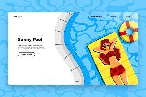 Lying pool - Banner & Landing Page