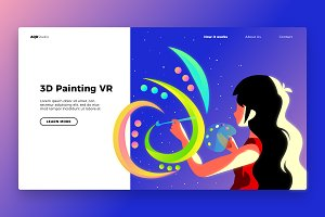 Painting VR - Banner & Landing Page