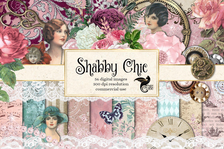 Shabby Chic Digital Scrapbooking Kit ~ Graphics ~ Creative ...
