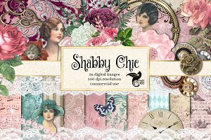 Shabby Chic Digital Scrapbooking Kit