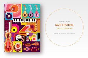 Jazz Festival vector poster design