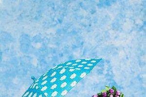 umbrella and tulips
