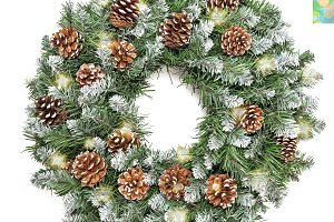 Christmas decoration evergreen pine