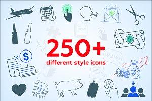 250 icons set