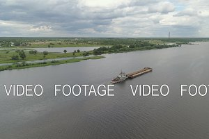 Barge on the river Volga