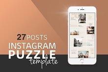 Instagram PUZZLE Template