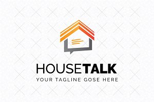 House Talk Logo Template