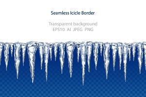 Icicle seamless border