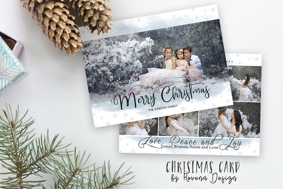 christmas card template instant down card templates creative market