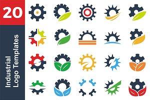 20 Logo Industrial Templates Bundle