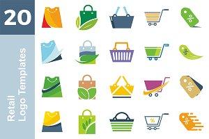 20 Logo Retail Templates Bundle