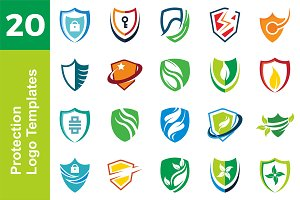 20 Logo Protection Templates Bundle