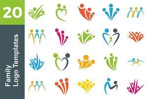 20 Logo Family Templates Bundle