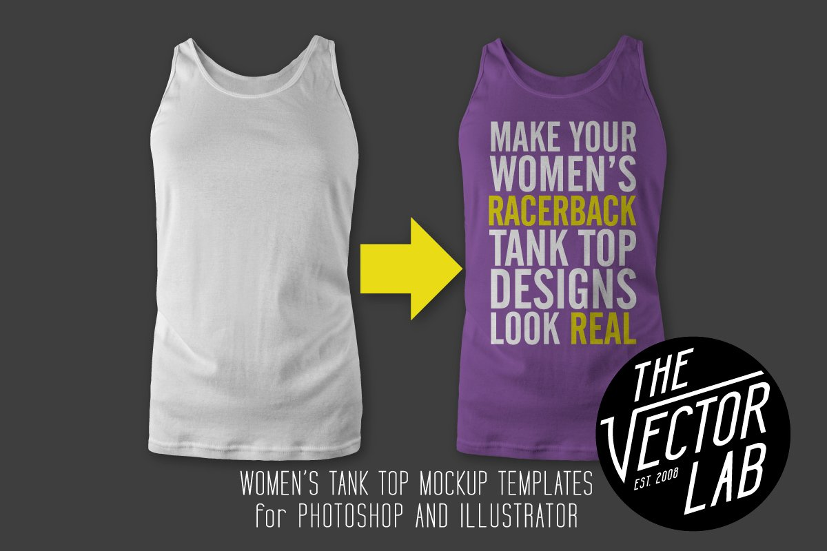 Womens racerback tank top templates product mockups creative market maxwellsz