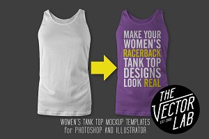 Women's Racerback Tank Top Templates