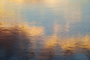River Sunset Reflections
